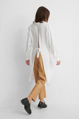 Gine Margrethe x NA-KD Gine Margrethe x NA-KD Shirt Met Open Rug - White