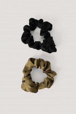 NA-KD Accessories Scrunchies - Green