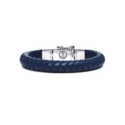 Buddha to Buddha Buddha to Buddha Armband Ben Small Leer Blauw