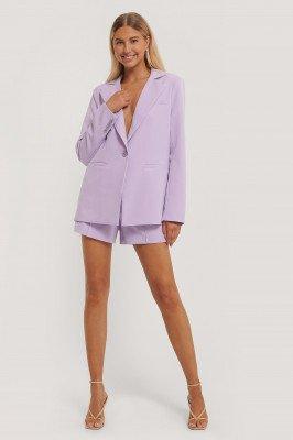 Paola Locatelli x NA-KD Blazer Met Één Knoop - Purple