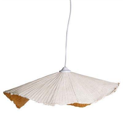 Firawonen.nl PTMD lanzo wit papier platte hanglamp l