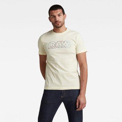 G-Star RAW 3D RAW. T-Shirt - Geel - Heren