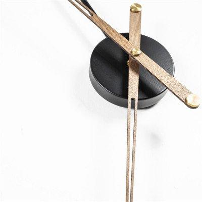 By-Boo By-Boo Wandklok 'Sundial' 70cm, kleur Zwart