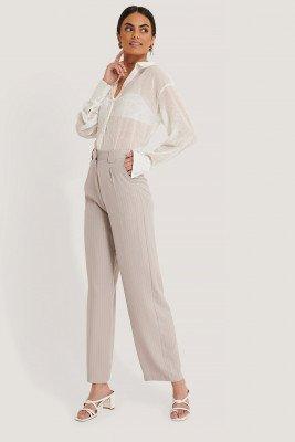 NA-KD Classic NA-KD Classic Flared Striped Pants - Grey