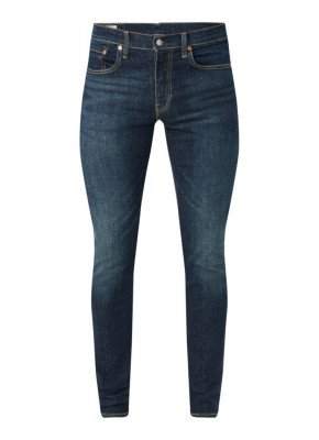 Levi's Levi's Skinny fit jeans met stretch en donkere wassing