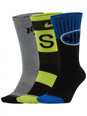 Nike Nike Everyday Max Lightweight Skate Crew 3Pk Socks patroon