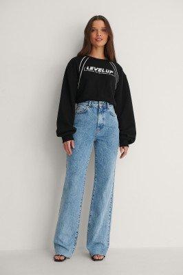 NA-KD NA-KD Organisch Sweatshirt Body - Black