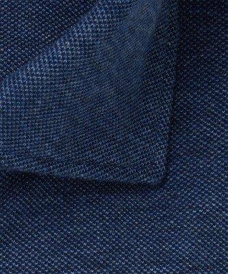 Profuomo Profuomo heren blauw mélange knitted overhemd Originale