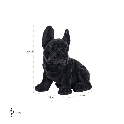 Richmond Interiors Richmond Decoratie 'Dog' kleur Zwart