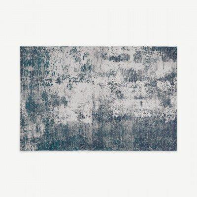 MADE.COM Genna vloerkleed, 160 x 230 cm, petrolblauw