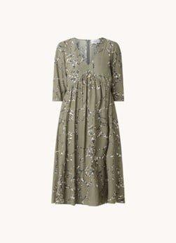BAenSH ba&sh Mosiris midi jurk met halflange mouw en V-hals