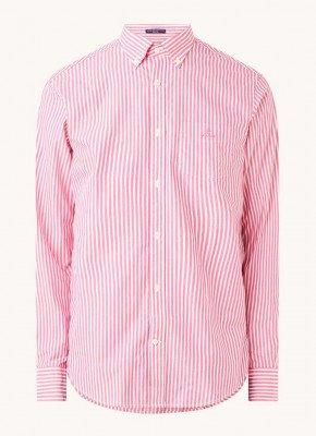 Gant Gant Regular fit overhemd met streepprint en borstzak