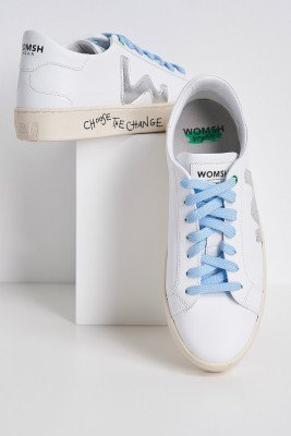 Womsh Snik White Silver Trainers