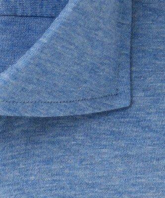 Profuomo Profuomo heren blauw single jersey knitted overhemd Originale