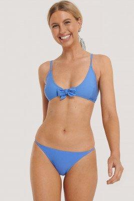 NA-KD Swimwear NA-KD Swimwear Bikinibroekje Met Dunne Bandjes - Blue