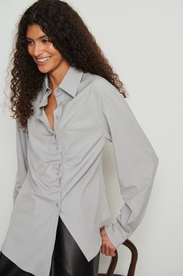 NA-KD Trend NA-KD Trend Asymmetrisch shirt - Grey