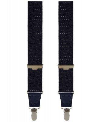 Profuomo Profuomo heren navy pindot bretels