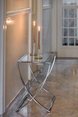 Light en Living Light & Living Sidetable 'Molina', glas+nikkel