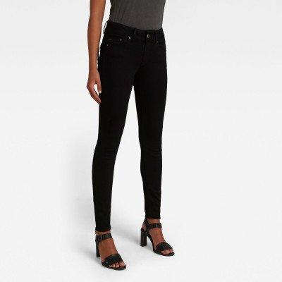 G-Star RAW Midge Cody Mid Skinny Jeans - Zwart - Dames