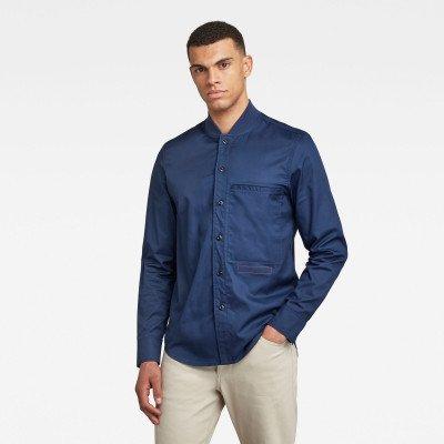 G-Star RAW Bomber Collar Regular Shirt - Donkerblauw - Heren