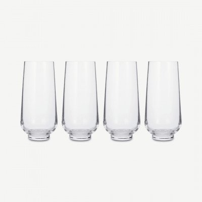 MADE.COM NUDE Glassware set van 4 longdrinkglazen, transparant