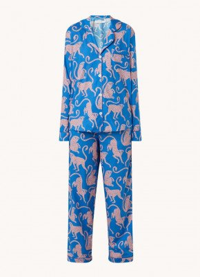 Desmond en Dempsey Desmond & Dempsey Chango pyjamaset van biologisch katoen