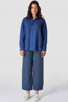 Kings of indigo Kings of Indigo - TAKATA shirt long sleeve Female - Blue