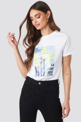 NA-KD Trend NA-KD Trend Exhibition T-shirt - White