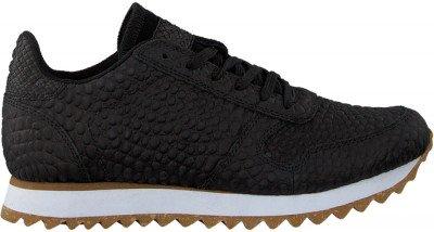 Woden Zwarte Woden Lage Sneakers Ydun Croco Ii