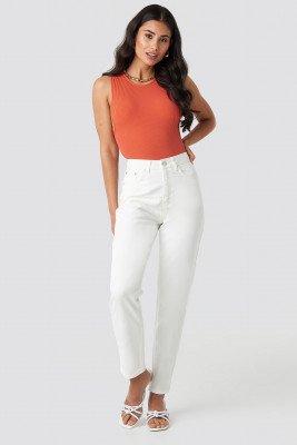 NA-KD NA-KD Mom Jeans - White