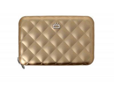 Ogon Designs Ogon Dames Creditcardhouder Quilted Zipper Rose Gold