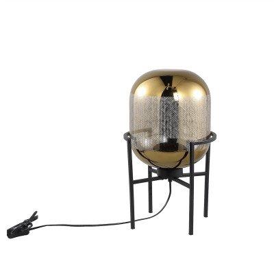 Firawonen.nl PTMD snakey goud tafellamp glas op metalen voet s