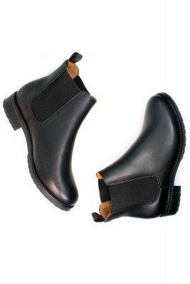 Will's Vegan Store Will's Vegan Store unisex vegan Chelsea Boots Luxe Smart Zwart Zwart 38 Gerecycled rubber/Microfibre (micronappa, microsuède)/PU