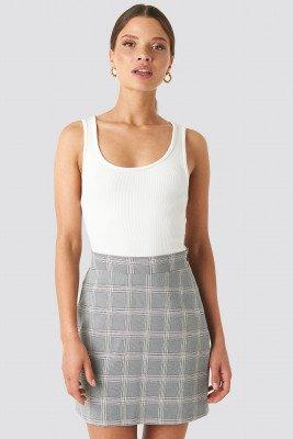 NA-KD Classic NA-KD Classic Light Checkered Mini Skirt - Blue