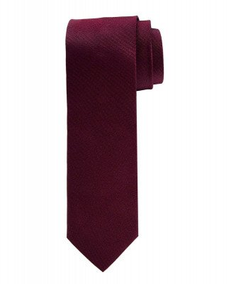 Profuomo Profuomo heren bordeaux oxford zijden stropdas
