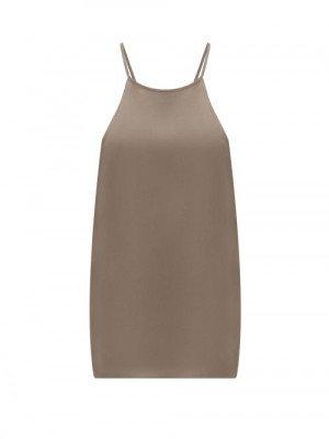 Tibi - Eco-silk Cami Top - Womens - Khaki