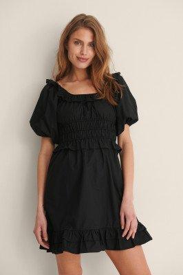 NA-KD Boho NA-KD Boho Organisch Katoenen Mini-jurk - Black