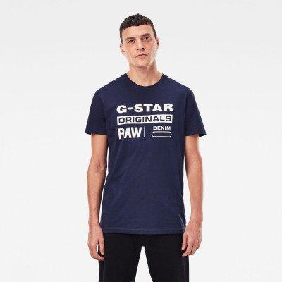 G-Star RAW Raw. Graphic Slim T-Shirt - Donkerblauw - Heren
