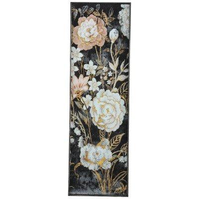 Firawonen.nl Chiron glass tray black bloem print rectangle