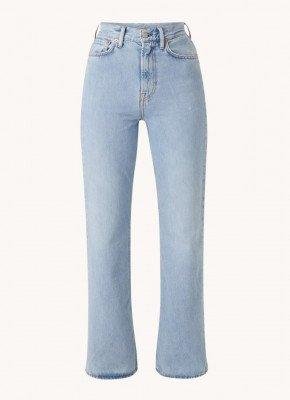 Acne Studios Acne Studios 1990 High waist slim bootcut fit jeans met licht wassing
