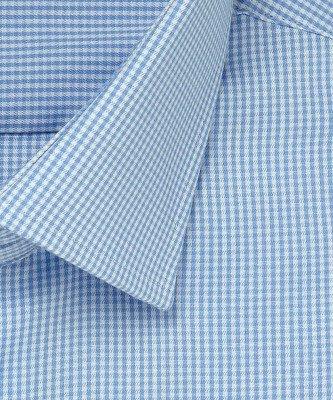 Michaelis Michaelis heren ruit overhemd blauw strijkvrij