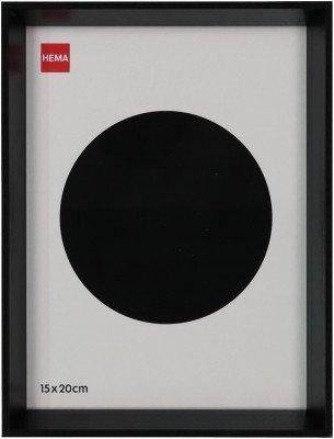HEMA HEMA Fotolijst Hout 15x20 - Facetrand Zwart