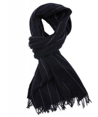 Profuomo Profuomo heren navy oversized wollen sjaal
