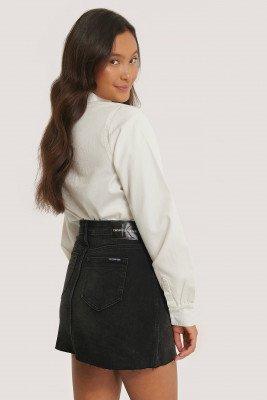 Calvin Klein Calvin Klein Middelhoge Minirok - Black