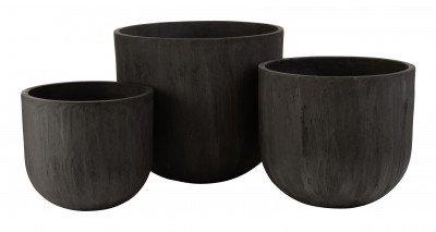 J-Line J-Line Pot 'Irma' Set van 3 stuks, kleur Zwart