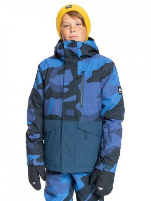 Quiksilver Quiksilver Mission Printed Block Jacket blauw