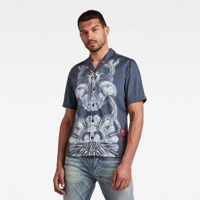 G-Star RAW Hawaiian Service Regular Shirt - Donkerblauw - Heren
