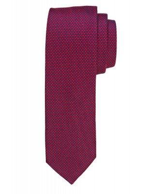 Profuomo Profuomo heren rode faux-uni zijden stropdas