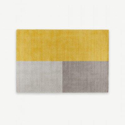 MADE.COM Elkan getuft vloerkleed van wol, 160 x 230cm, mosterdgeel