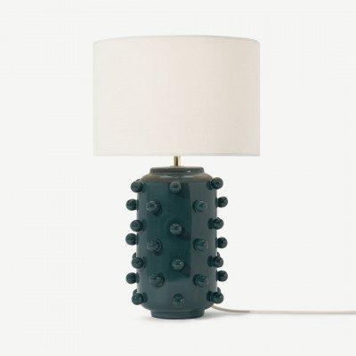 MADE.COM Bobble tafellamp, donkerturkoois keramiek